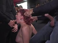 Redhead bound and hanged on a tree in public