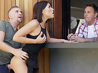 Neighbor fucked babe anal during offer