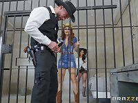 Lesbian prison pussy licking with Lela Star and Molly Stewart