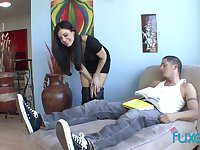 Horny cougar India Summer fucks her naughty BF