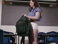 Bodacious lesbian teacher Mona Wales is fucking seductive student