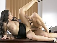Super hot young secretary is down to fuck