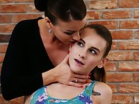 Smoking hot lesbian milf Vicky Love is fucking her nice young girlfriend