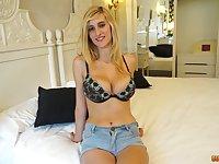 Busty blonde Eli Tetona gets her big tits covered in cum