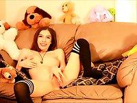 Cute teen solo scene stockings sybian orgasm