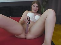 After dildo pleasing Mona Sweet wants to feel hard penis in her cunt