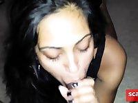Hot Indian Babe Sucking Cock