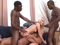 Horny black men fuck Jenny Simons in crazy XXX scenes