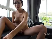 Big Tits Chick Fingers Tiny Pussy