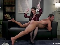 Very Busty domme sits on face of assistant