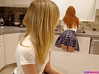Babe loves the ass on her friend and these two love FFM threesomes