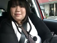 This fat Japanese slut loves to eat for sure and she loves the dick