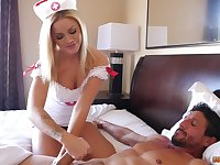 Young mistress in sexy nurse outfit Jessa Rhodes gets her pussy slammed
