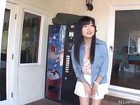 Interracial outdoors fucking with cum loving Asian Ootsuki Hibiki