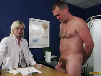 Insane sex with the slutty female doc who wants to keep her uniform on