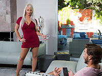 Milf London River loves to fuck young cock