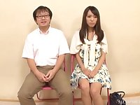 Skinny Japanese girl gets her pussy fingered and gives a blowjob