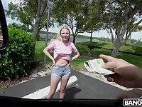 Bubble butt blondie Dixie Lynn moans during hardcore fucking