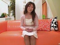Horny Japanese MILF Masako Suzuki opens her legs to be fucked