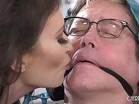 Busty Brunette Wife Cucks Her Wimpy Limp Dick Husband