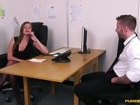 Job interview goes nasty once the hotties start craving for cock