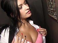 Fake boobs amateur Nadia Capri blows a stranger's prick - Gloryhole