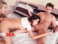 LOS CONSOLADORES - Alexa Tomas Takes Cock In Hot Threeway Fun