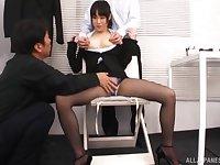 Wild fucking between two guys and small tits Japanese Kitagawa Yuzu
