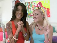 Anal loving babes Dana Vespoli and Chloe Foster get fucked good