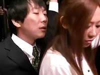 Shy Beauty groped and used in a public bus