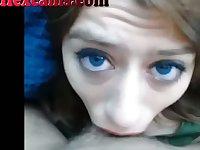 Hot Teen Webcam Slut Sucks Cock