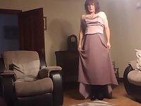 sissy kathys wedding dress wank