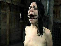 BDSM Teen Tied And Suspended With Her Nipples Clamped