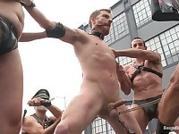 Bound in Public. Naked and humiliated in front of thousands of people