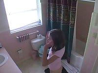 Teen voyeur girls bathroom