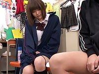 Hottest Japanese model Reo Saionji, Chihiro Uemura, Yuri Hyuuga, Riina Yoshimi in Fabulous couple, changing room JAV video