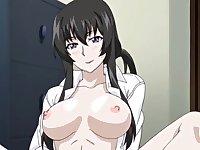Busty anime girl makes me cum three times!
