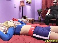 Hot cosplay girl punishment