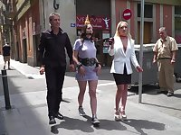 Liz Rainbow and her kinky friends adore the humiliation in the public